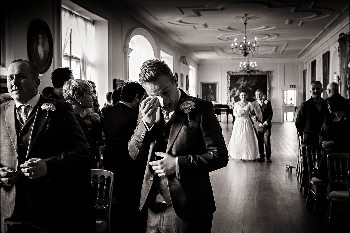 The Brides Arrival in Church by Andrew Fletcher Phtographer